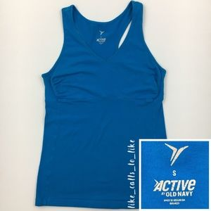Old Navy Active Racerback Tank - Blue - Size S